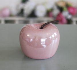 Декоративное яблоко розовая керамика h9.5см перламутр 1006132-2 розовый