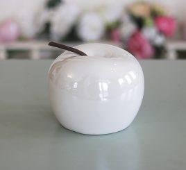 Декоративное яблоко белая керамика h9.5см перламутр 1006132-3 белый
