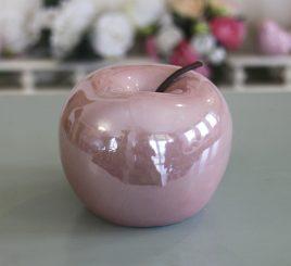 Декоративное яблоко розовая керамика h11см перламутр 1006133-2 розовый