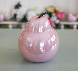 Декоративная груша розовая керамика h11см перламутр 1006133-2 розовый