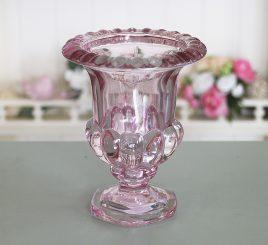 Ваза Виолетсветло- розовое стекло h14см 1008751-3 светло-роз