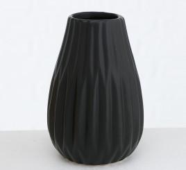 Ваза керамическая рельефная h12см чёрный 1021209-2 чёрный