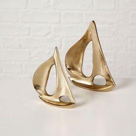 Набор 2х парусников металл золото h18-21см 1011580