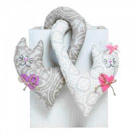 Декоративное изделие «Парочка котов» Ажур — Фреска 007307