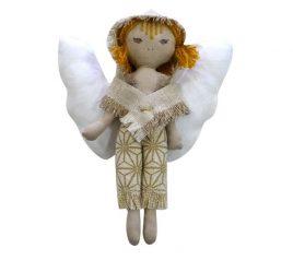 Декоративное изделие «Ангел-мальчик золото» 20см