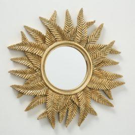 Зеркало на стену полистоун золото 1018445