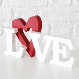Декоративная надпись LOVE белый МДФ h15см 1014305