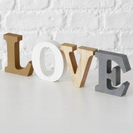 Декоративная надпись LOVE микс МДФ 10см 1014332