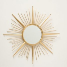 Настенное зеркало солнце Закат золото металл 1017240-1