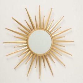 Настенное зеркало солнце Звезда золото металл 1017240-3