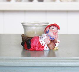 Подсвечник казачка красное платье ZY12107-4БК