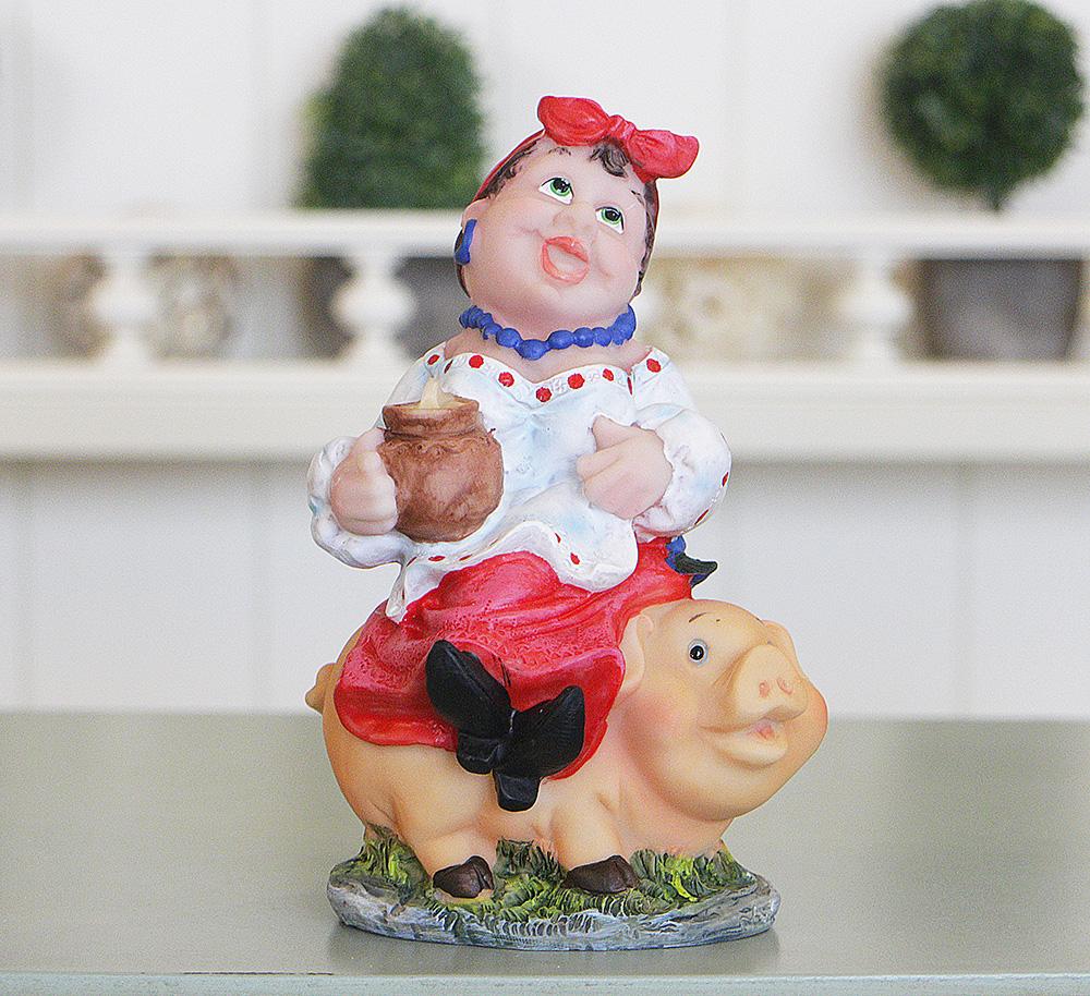 Копилка казачка «На свинье» ZY12362-2-2Б