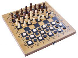 Игровой набор 3в1 нарды, шахматы и шашки (34х34 см) 3517B
