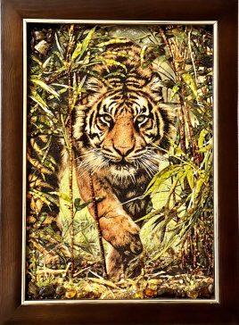 Панно с животными в деревянной рамке Т-399 40*60