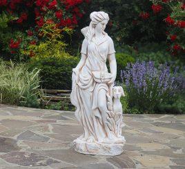 Садовая статуя Богиня охоты 27x20x83 см ССП12041 Крем