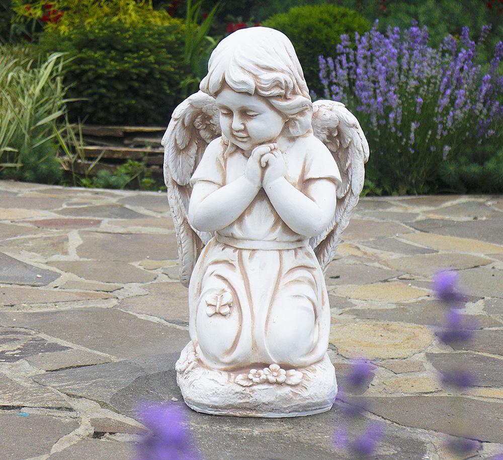 Садовая  фигура Ангел молящийся на коленках 33x32x54.5cm ССП12092-Н