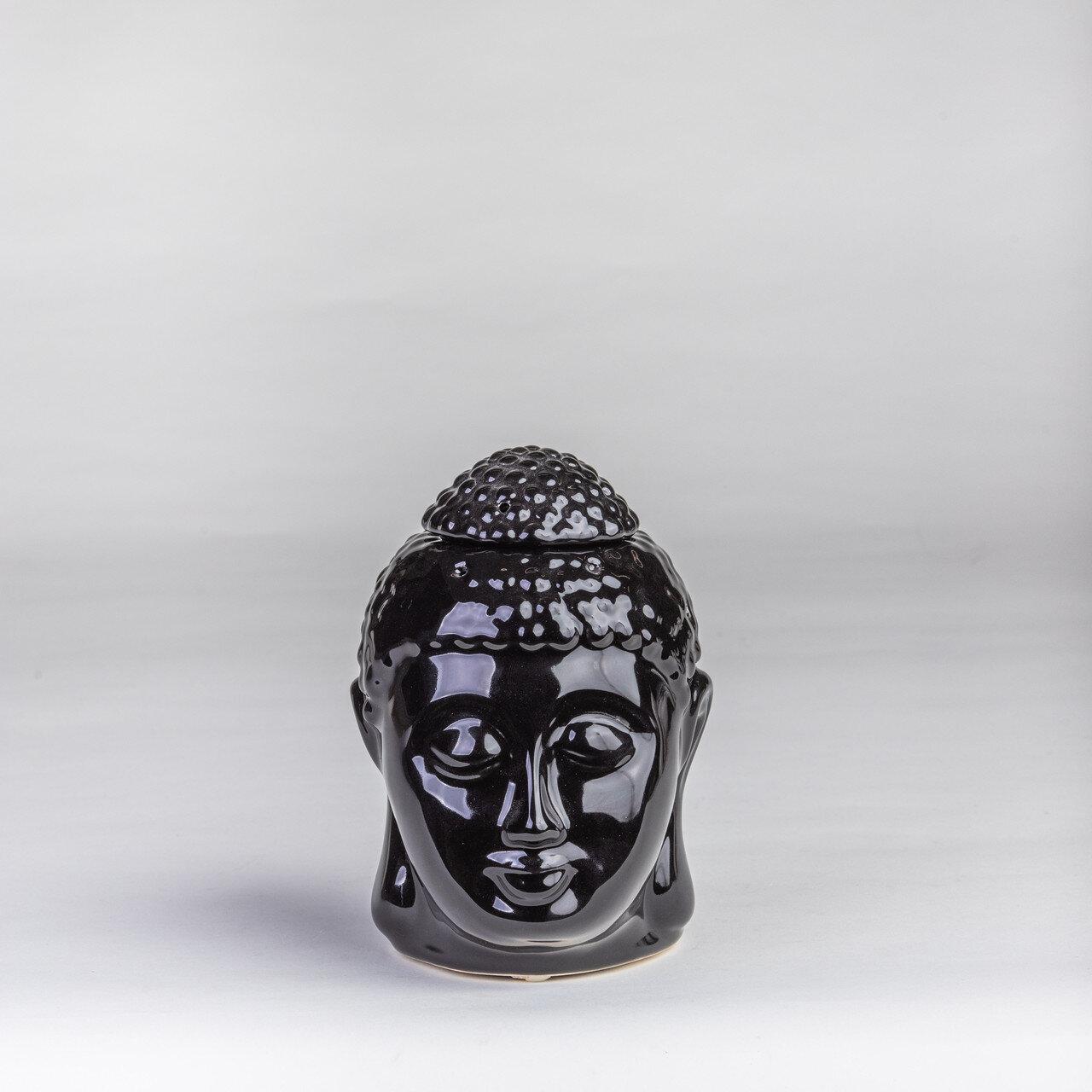 Аромалампа черная керамика 12.5*14*16 см 2305-16 черный