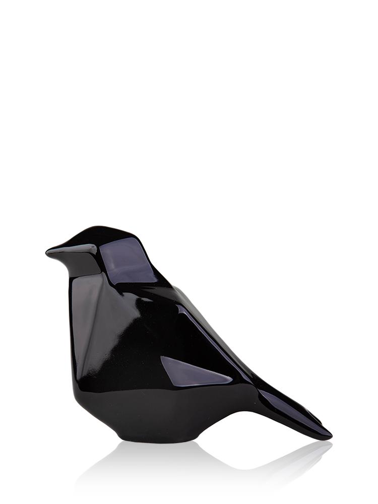 Статуэтка полигональная Птица черная керамика 14*8*10.5 см 2507-10,5 черная