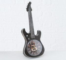 Настольные часы гитара металл чёрный h34см 2005859-1Ч