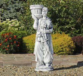Садовая фигура Козак с булавой 96х33х27 см ССП00045 Серый