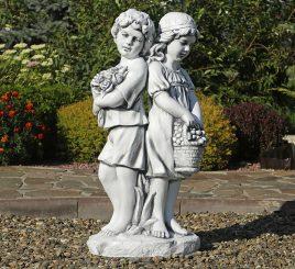 Садовая фигура Романтика 90х45х30 см ССП12215 Серый