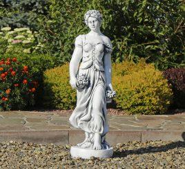 Садовая скульптура Богиня Лета 84х26х28 см ССП12038 Серый