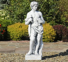 Садовая скульптура Бог строительства 30х22х84 см ССП12043 Серый