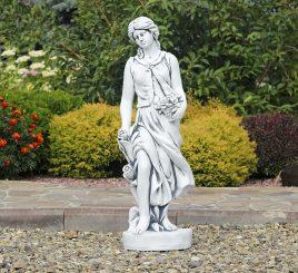Садовая фигура Богиня Весны 83х23х27 см ССП12037 Серый