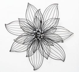 Настенный декор цветок Lizzy W 5 см, L 75 см, H 75 см металл 1021530
