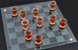 Алко шашки-рюмки 40х40см 085м