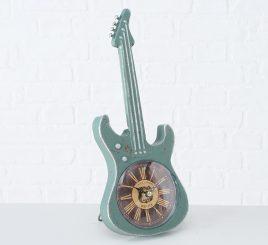 Настольные часы гитара металл зеленый h34см 2005859-2З