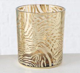 Подсвечник Тигр золотое стекло h10см 1021666-2 тигр