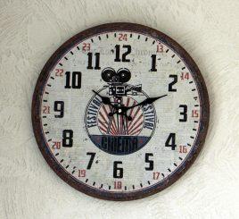 Настенные часы аналоговые МДФ d34см 1021692-2 видео