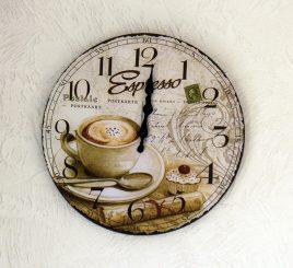 Настенные часы Кофе МДФ d34см 4258800-2 эспрессо