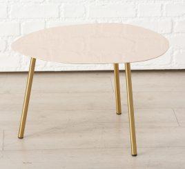 Журнальный столик Вилана металл желтый h36см w50см 1017730-2М