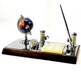 Набор офисный настольный  с глобусом-Визит