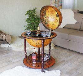 Глобус бар напольный на 3 ножки 420 мм коричневый Гранд Презент 42001R