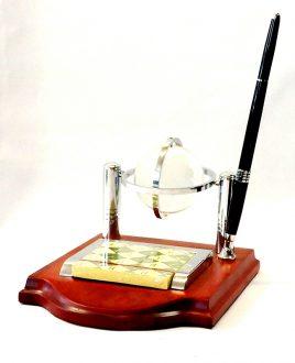 Офисный набор с стеклянным глобусом-Аташе