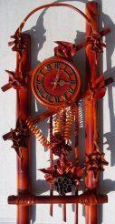 Часы из натуральной кожи и бамбука-Арка ЧК09