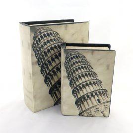 Шкатулка2х Пизанская  башня Гранд Презент 27-F0008