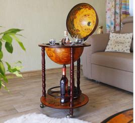 Глобус бар напольный на 3-х ножках 360 мм коричневый Гранд Презент 36001 R