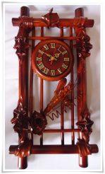 Часы из натуральной кожи и бамбука-Вертикальная рамка ЧК16